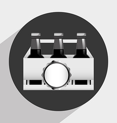 ice beer vector image
