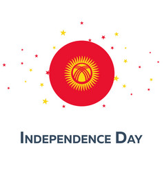 independence day of kyrgyzstan patriotic banner vector image