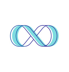 Infinity symbol isolated on white background blue vector