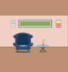 Interior living room design presentation flat vector