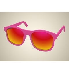 Isolated rose realistic sunglasses vector image