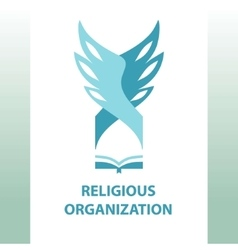 logo religious organization of society vector image