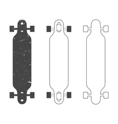 Longboard vector image