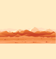mars landscape game background vector image