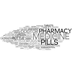 Medicine word cloud concept vector