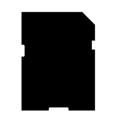 memory card the black color icon vector image