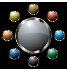metal surround centre vector image