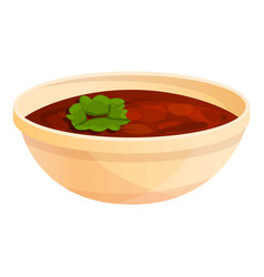 mexican soup icon cartoon style vector image