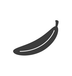 monochrome isolated banana icon on white vector image