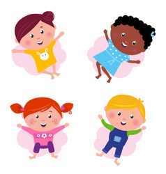 multi cultural kids vector image