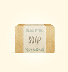 Natural handmade soap bar vector