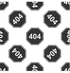 page with a 404 error icon seamless pattern vector image