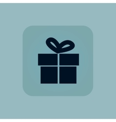 Pale blue gift icon vector