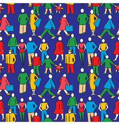 People seamless pattern vector
