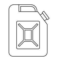 Petrol tank icon outline style vector