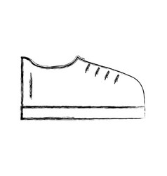 Sketch draw shoe cartoon vector