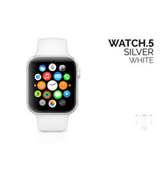 smart watch with white bracelet realistic vector image