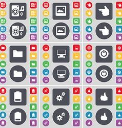 Speaker Window Hand Folder Monitor Power Battery vector image