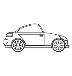 Sport car isolated vector