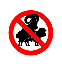 stop sheep sex ban warning ram intercourse red vector image