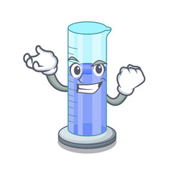 Successful graduated cylinder icon in outline vector