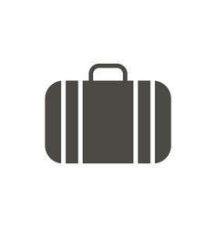 suitcase icon luggage symbol isolated tre vector image