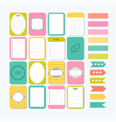 template for notebooks cute design elements flat vector image
