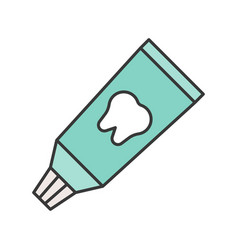 toothpaste tube or tooth whitening dental related vector image