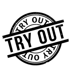 try out rubber stamp vector image