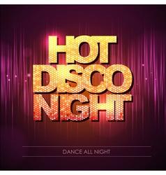 Typography Disco background Hot disco night vector