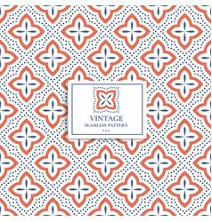 Vintage geometric seamless pattern vector