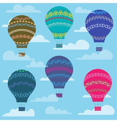 Colorful balloon in the sky seamless background vector image vector image