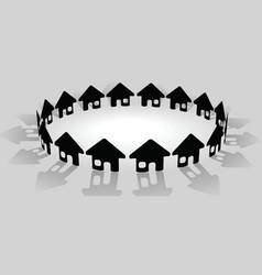 community symbols vector image vector image