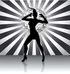 disco queen vector image