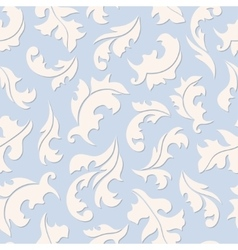 Floral seamless blue pattern vector image vector image
