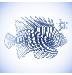 Graphic lion fish vector image