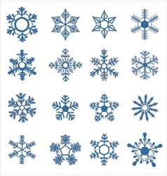 Icons of beautiful snowflakes vector image
