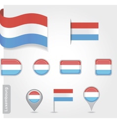 Luxembourg flag icon vector image