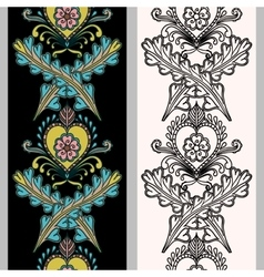 Seamless vertical pattern on Indian grounds Hand vector image
