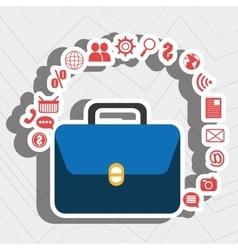 suitcase portfolio buy web vector image
