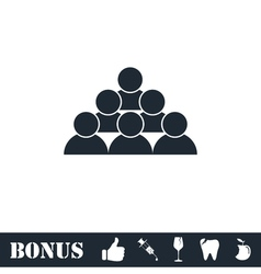 Team icon flat vector image vector image