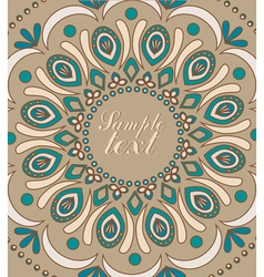 Vintage background with oriental ornaments vector image vector image