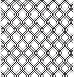 Wired Metallic Fence Seamless Pattern vector image vector image