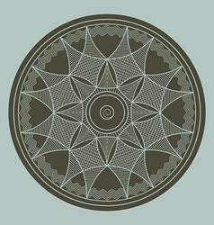 Byzantine rosette vector image vector image