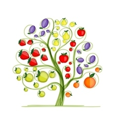 Fruit tree for your design vector image