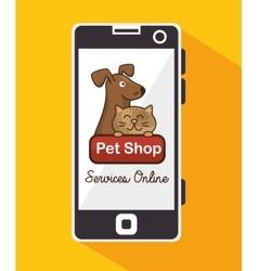 group animals pet shop online vector image