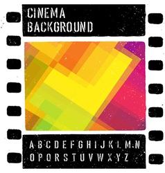 grunge colorful cinema background vector image vector image