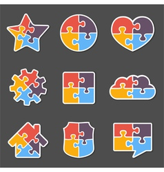 Puzzle Objects vector image