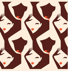 woman seamless pattern vector image vector image