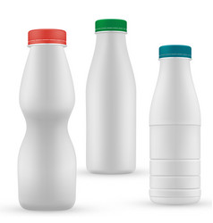 blank milk or yoghurt white bottle with screw cap vector image